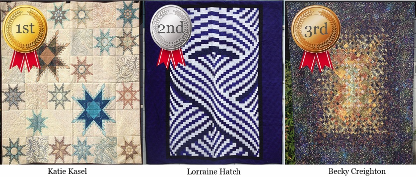 Top Three Peoples Choice 2015 Sew Popular Quilts Contest